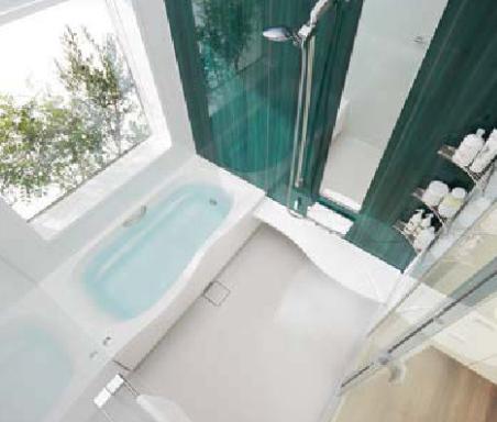 グリーン色のお風呂
